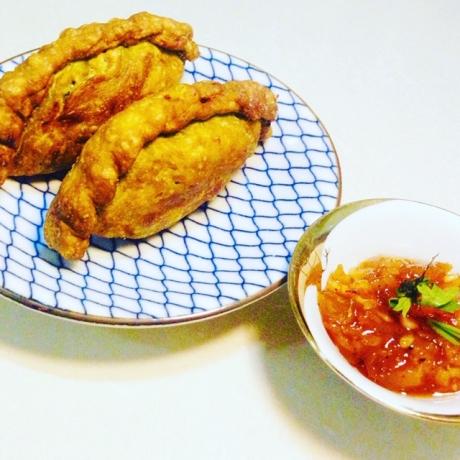 Curry Puffs - Mango Chutney