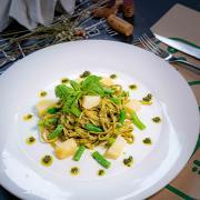 Homemade Tagliolini al Pesto