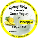 Greek Yogurt on Pineapple