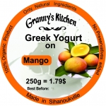 Greek Yogurt on Mango