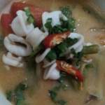 Tom Yum soup with rice
