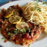 Chicken OR pork Piccata