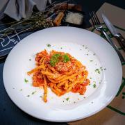 Homemade Bucatini all'Amatriciana